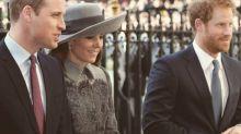 Grau in Grau - Kate an der Seite von William und Harry