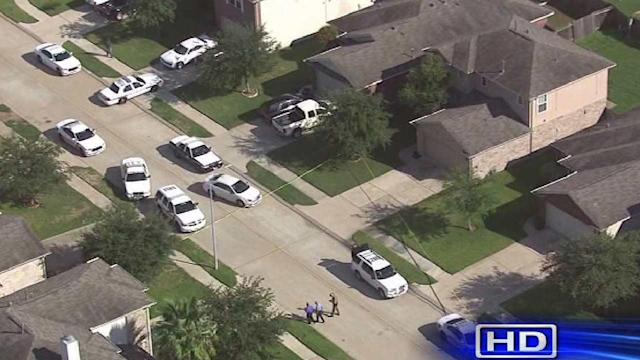 Officer's son shoots suspect in their home
