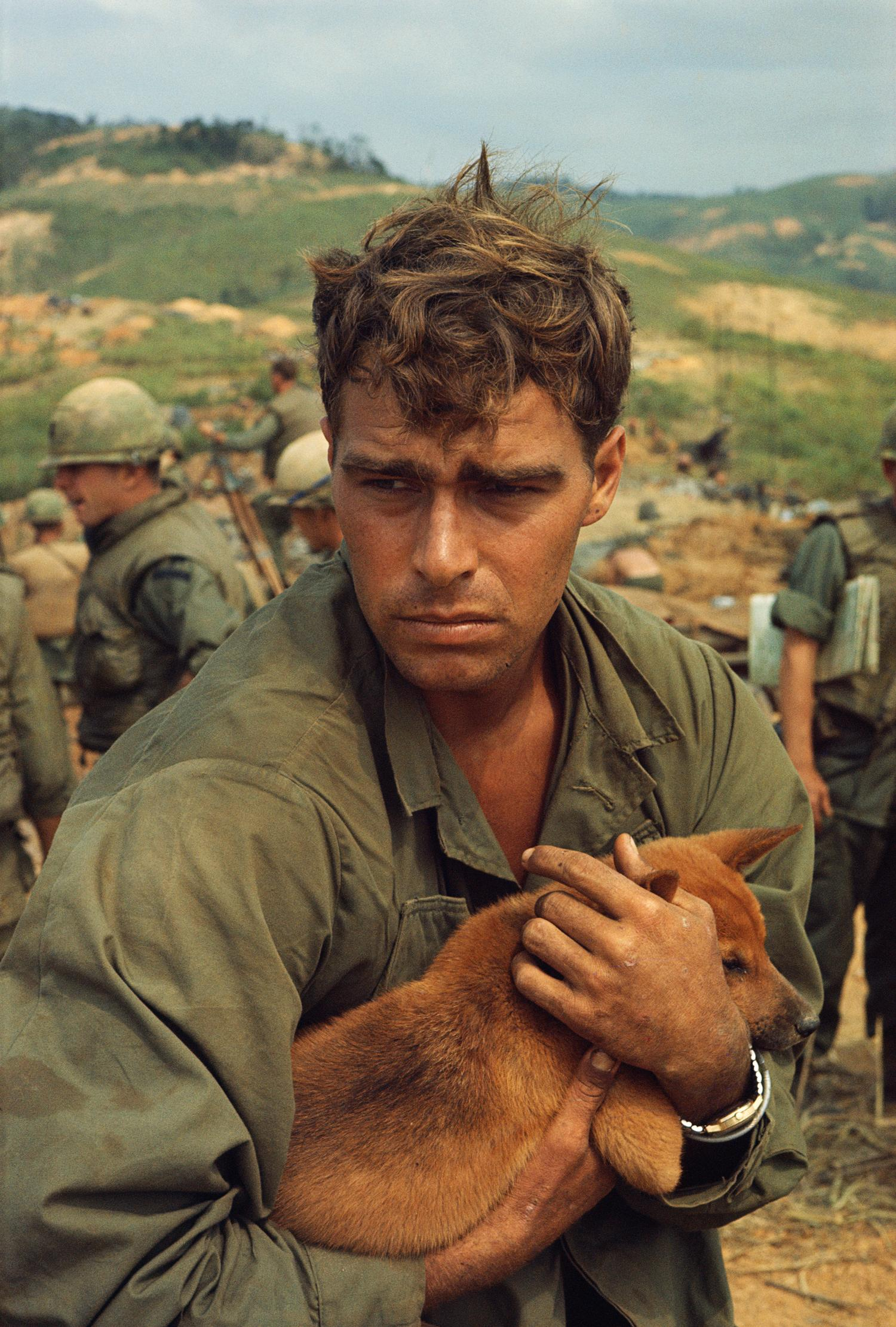 <p>U.S. Marine in Khe Sanh, Operation Pegasus, April 1968. (Photograph by Larry Burrows) </p>