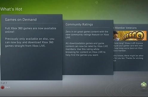 Xbox Live Dashboard update preview goes live