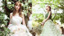 紙上花裙也可穿上身!日藝術家用布花瓣製成氣質婚紗裙 穿上如花仙子般