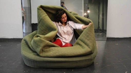 This Wearable Sofa Seems a Lot Less Ridiculous After the Polar Vortex