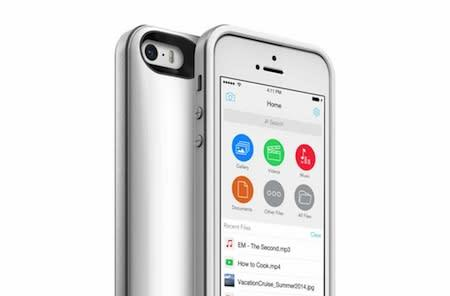 Mophie Space Pack for iPhone is a battery case with built-in storage