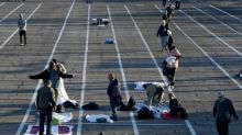 Coronavirus: Las Vegas parking lot becomes homeless shelter