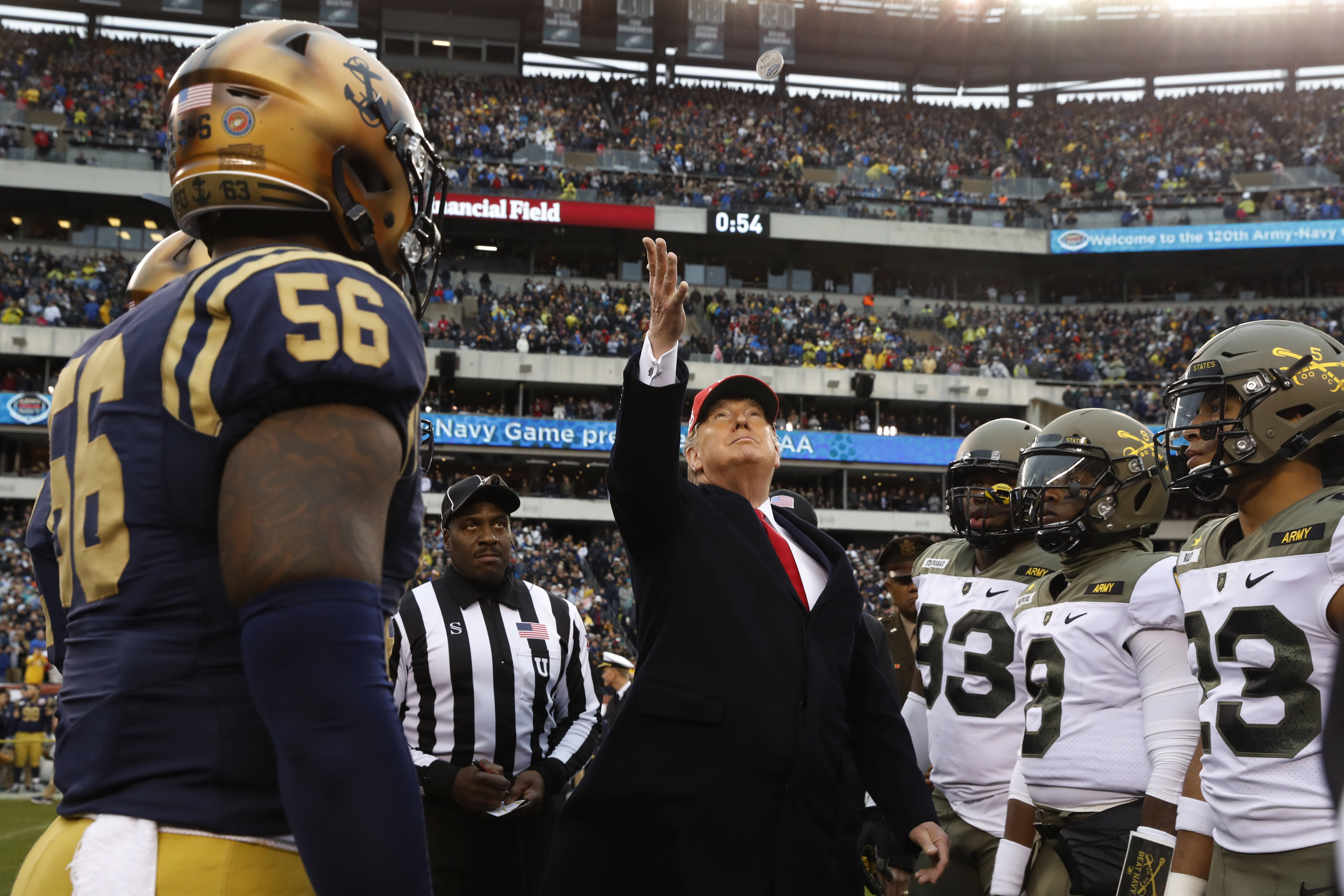 At Army Navy Game Trump Touts New Pro Sports Option