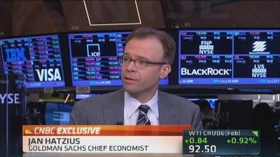 Hatzius: Economy accelerating to faster pace
