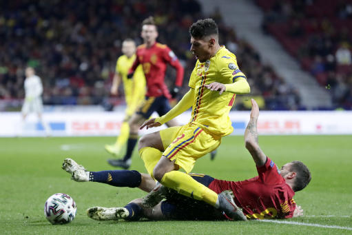 Spain routs Romania 5-0 in its last qualifier for Euro 2020