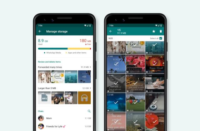 WhatsApp makes it easier to clean up GIF and photo spam
