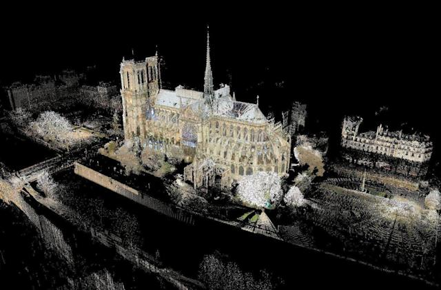 The billion point laser cloud that will help rebuild Notre Dame