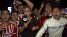 Reporter hits fan with microphone after allegedly being groped on live TV