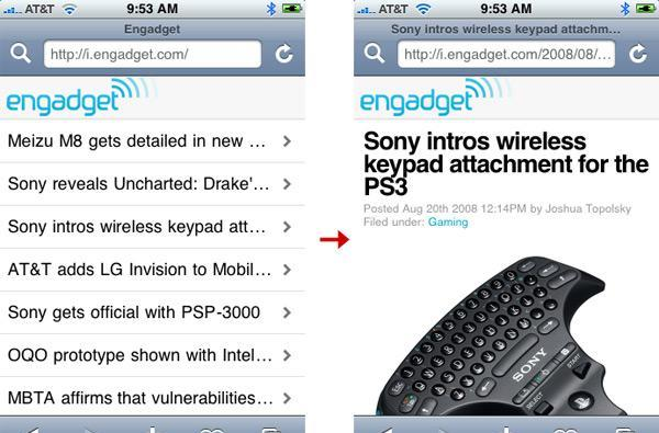 i.engadget.com - Engadget for your iPhone or iPod touch