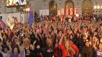 Big crowd celebrates One Billion Rising at City Hall