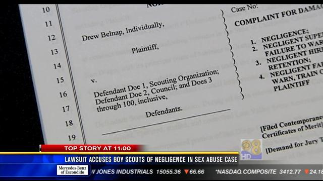 Lawsuit accuses Boy Scouts of negligence in sex abuse case