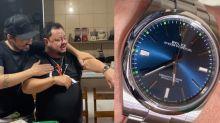 Fernando presenteia o sogro com relógio de quase R$ 35 mil