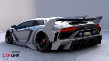 四輪「宇宙戰艦」!Lamborghini Aventador專用Libety Walk限量版空力改發表