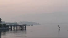 Mountains Around Vancouver Disappear Behind Canadian Wildfire Smoke