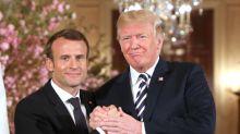 Emmanuel Macron et Donald Trump, une amitié tactile