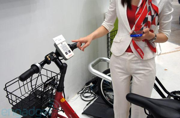 NTT DoCoMo Shared Bicycle Initiative hands-on (video)