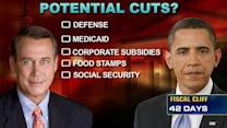 What cuts are on the table in 'fiscal cliff' talks?