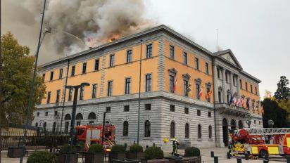 Un incendie ravage l'hôtel de ville d'Annecy