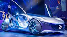 Watch Mercedes-Benz's 'Avatar'-inspired concept car drive without a steering wheel in a new testing video