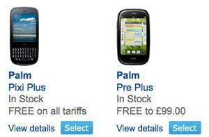 Palm Pre Plus and Pixi Plus now live on O2 UK