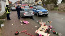 Around 30 hurt as car rams Germany carnival procession
