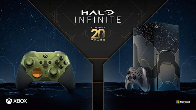 Halo Infinite Limited Edition Xbox Series X Bundle and Halo Infinite Limited Edition Elite Series 2 controller