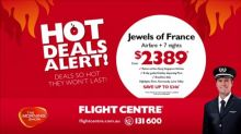 Flight Centre Hot Deal Alert: France