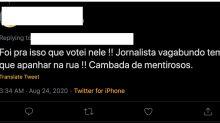'Repórter tem que apanhar mesmo': ataque de Bolsonaro gera onda de ameaças físicas a jornalistas