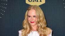 Nicole Kidman's bubblegum pink velvet dress is a surprise look for fall