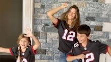 Gisele Bündchen and Her Kids Cheer on Tom Brady from Home in Buccaneers Jerseys: 'Let's Go Papa!'
