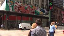New 500 square-foot mural hangs above State Street