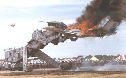 Forty-foot tall fire-breathing Robosaurus for sale