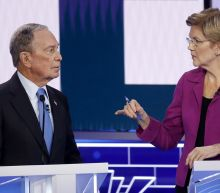 Democratic rivals pummel Bloomberg at start of Nevada debate