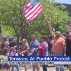 Prospectors Clashed Over A Christopher Columbus Statue In Pueblo This Weekend
