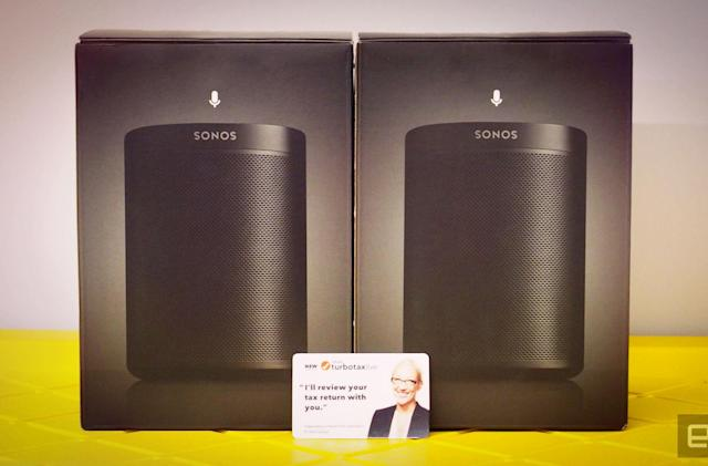 Engadget giveaway: Win a pair of Sonos One speakers courtesy of TurboTax!