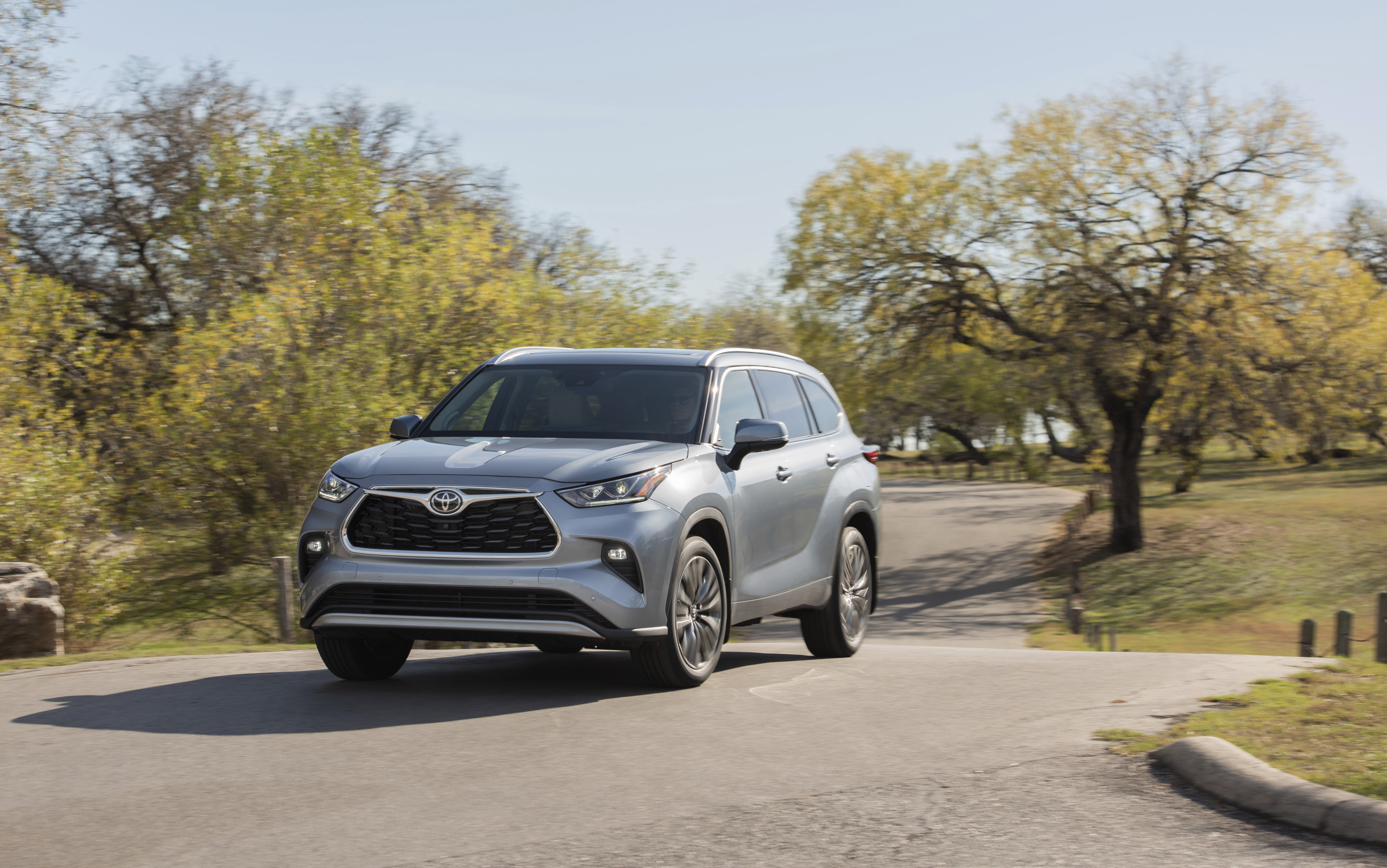 This photo provided by Toyota shows the 2020 Toyota Highlander, a midsize three-row SUV that offers more room and refinements in its redesign for 2020. (Courtesy of Toyota Motor Sales U.S.A. via AP)