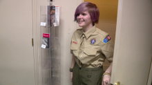Boy Scouts welcome first girls joining local troop with brand-new uniforms