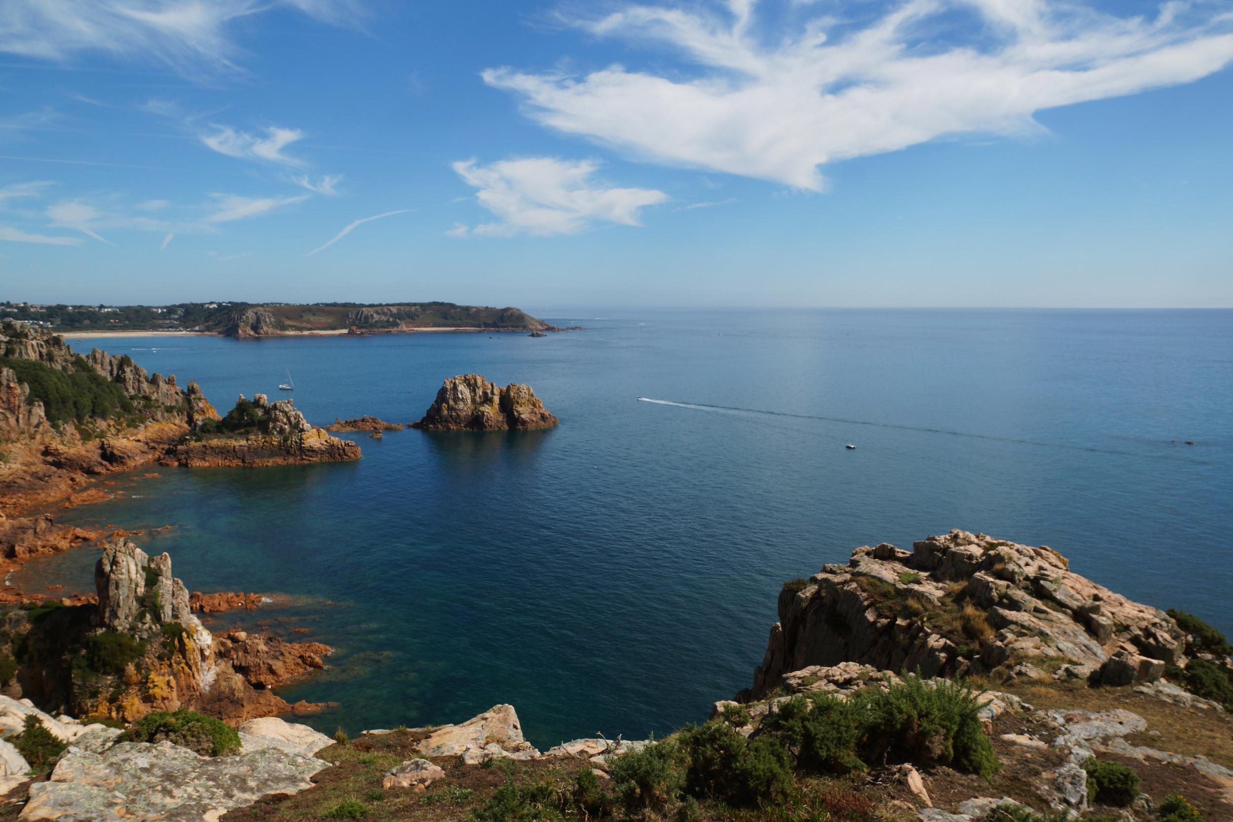 Jersey is the largest of the Channel Islands but is still only 9 miles by 5 miles. The island is know for being one of the hottest places in the British Isles during the summer and is often a few degrees warmer than the mainland.