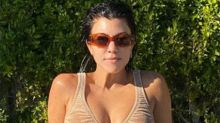 Kourtney Kardashian causes double-take in nude bikini