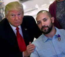 Trump visits wounded U.S. service members at military hospital
