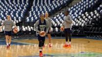 Lynx Have Some Fun During Practice