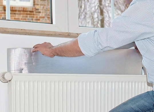 "<p>If you have <a href=""http://www.bobvila.com/slideshow/11-stylish-ways-to-enhance-or-hide-your-radiators-46992"" rel=""nofollow noopener"" target=""_blank"" data-ylk=""slk:radiators"" class=""link rapid-noclick-resp"">radiators</a> in your home, try fashioning reflective plates out of aluminum foil and placing one behind each unit. Instead of just heating up your wall, the radiator will heat the foil, which will reflect warmth back into the room and allow you to make the most of the unit's output. <i>Photo: <a href=""http://www.amazon.co.uk/gp/product/B0024NKDGM?ref_=nav_ya_signin"" rel=""nofollow noopener"" target=""_blank"" data-ylk=""slk:amazon.com.uk"" class=""link rapid-noclick-resp"">amazon.com.uk</a></i><br>RELATED: <a href=""http://www.bobvila.com/slideshow/the-1-hour-home-energy-audit-that-can-save-you-money-every-month-48115"" rel=""nofollow noopener"" target=""_blank"" data-ylk=""slk:The 1-Hour Home Energy Audit That Can Save You Money Every Month"" class=""link rapid-noclick-resp"">The 1-Hour Home Energy Audit That Can Save You Money Every Month</a></p>"