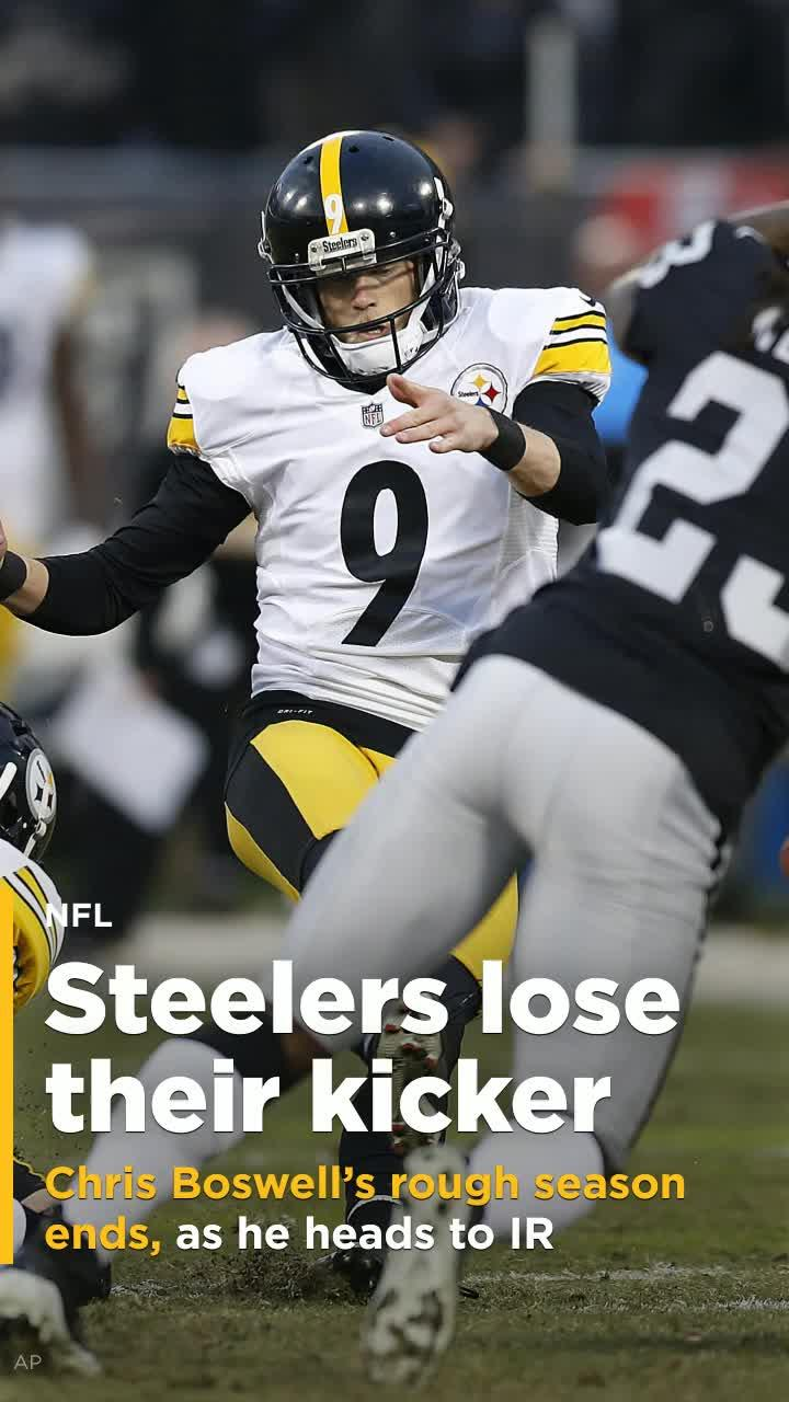 Steelers place kicker Chris Boswell on injured reserve [Video]