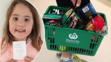 Woolworths worker's birthday gift for little girl in delivery order