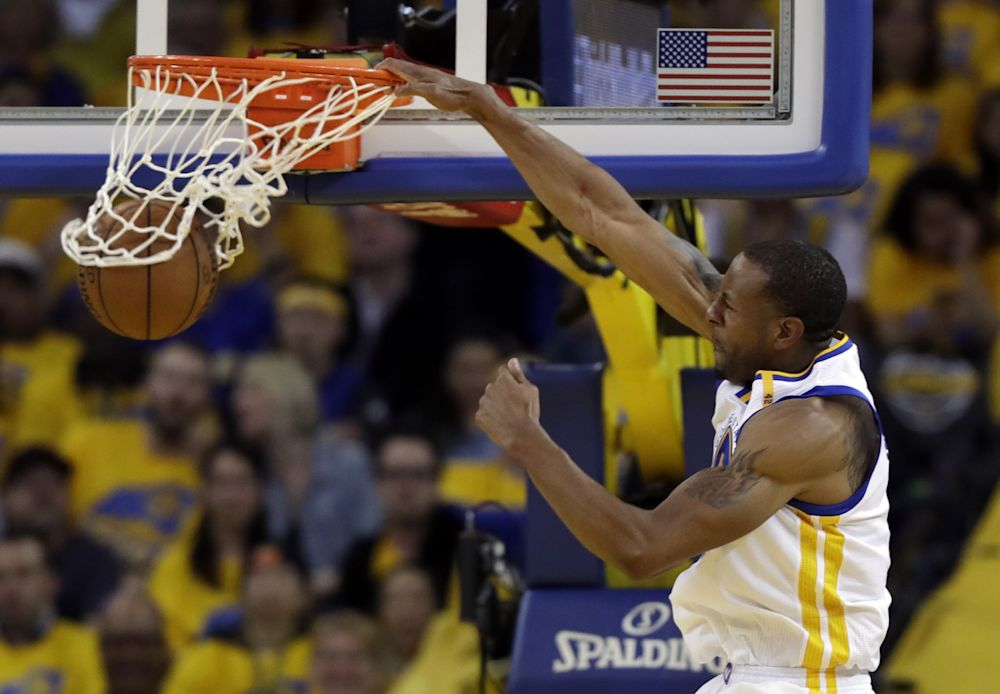 Andre Iguodala's health and effectiveness might be the Finals' biggest X-factor. (AP)