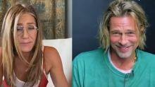 "Brad Pitt e Jennifer Aniston ""flertam"" em live e levam a internet à loucura"