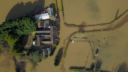 Aerial images reveal extent of flood devastation