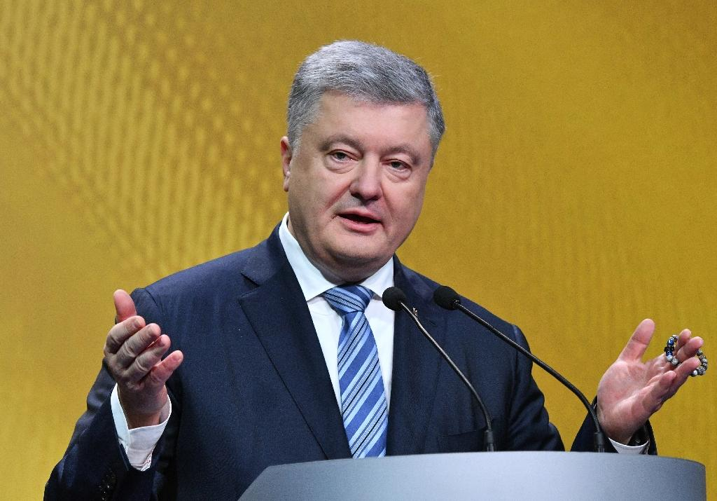 Ukrainian President Petro Poroshenko speaks during a press conference in Kiev on December 16, 2018